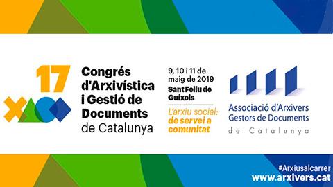 L'AMM convidat al XVII Congrés d'Arxivística i Gestió de Documents de Catalunya