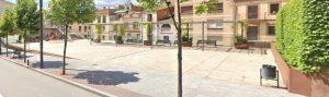 Visió generl de la plaça Mare Sant Ramon